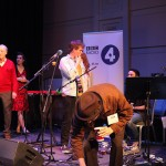 Preparing to appear on Loose Ends, on BBC Radio 4